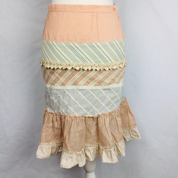 Moschino Dresses & Skirts - Moschino Ladies Pink Blue Stripe Long Skirt Size 4